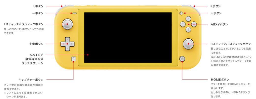 Nintendo Switch Lite 仕様