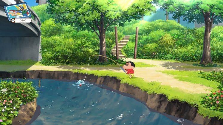 クレヨンしんちゃん魚釣り
